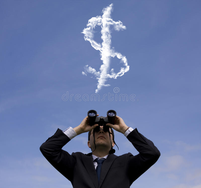 Download Businessman Looking For Fortune Stock Photo - Image: 16844710