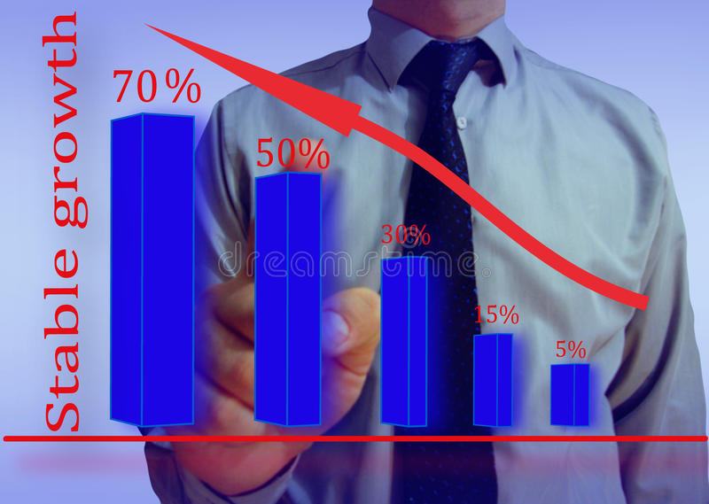 Download Businessman Looking Graph Stability Stock Illustration - Image: 36620548