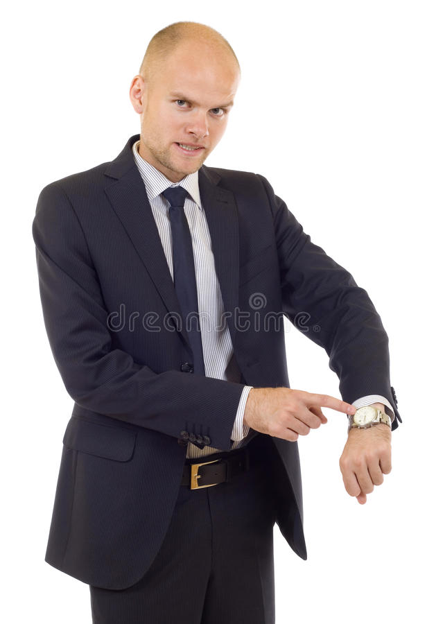 Download Businessman Looking At  His Watch Stock Image - Image: 10895471