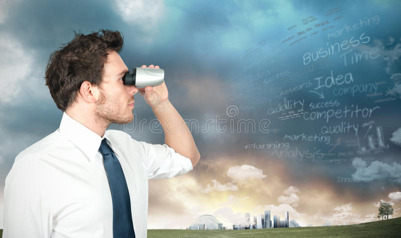 Businessman looking for new business royalty free stock image