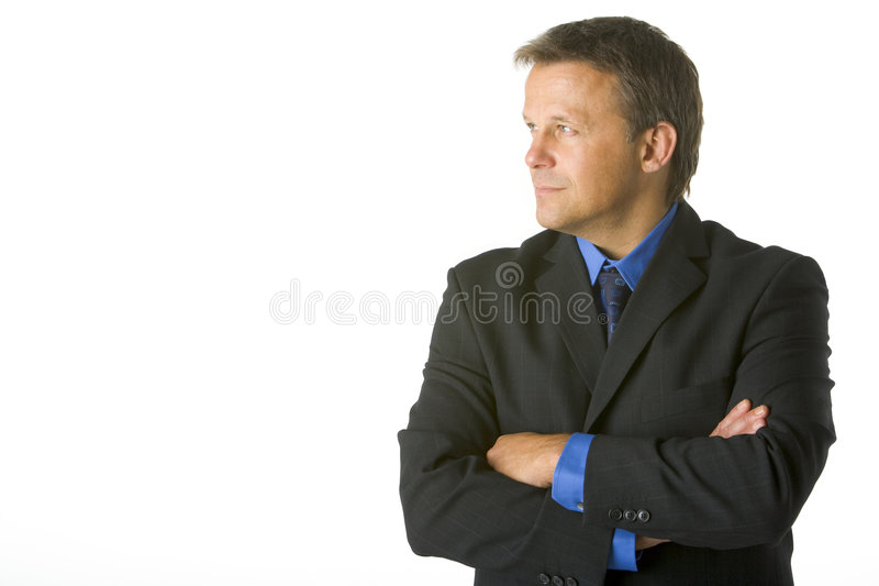 Download Businessman Looking Sideways Stock Photo - Image: 6879442