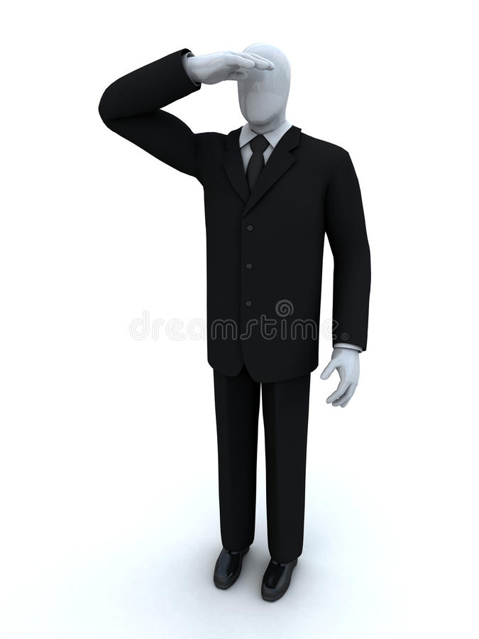 Download Businessman Looking For Something Stock Illustration - Image: 13760391