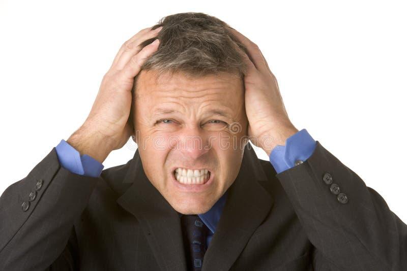 businessman looking stressed στοκ εικόνα με δικαίωμα ελεύθερης χρήσης