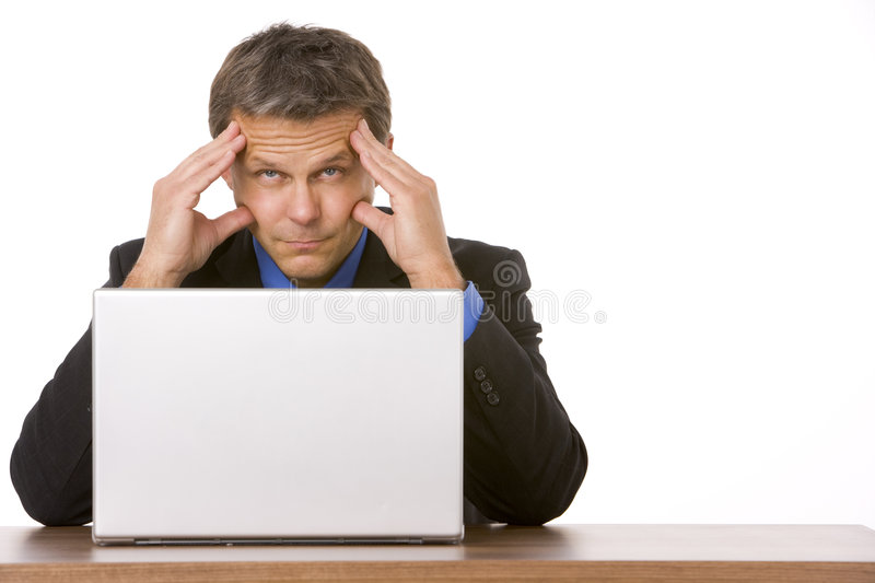 Businessman Looking Stressed Out royalty free stock photo
