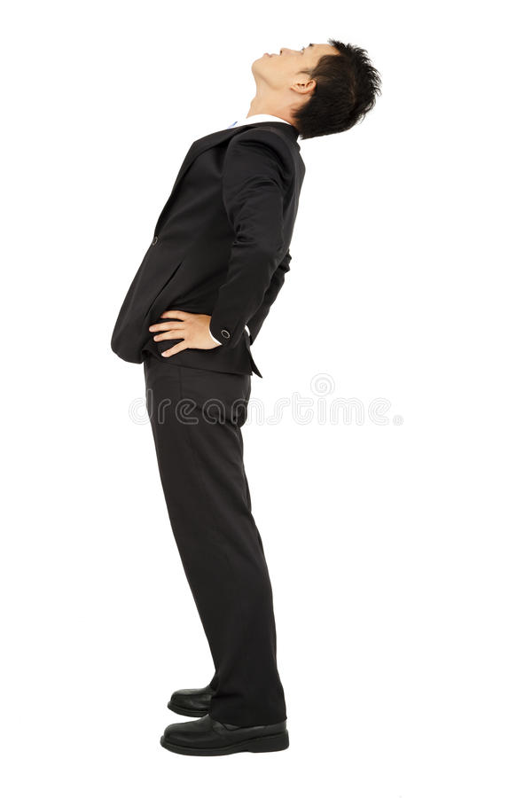 Businessman Looking Up Royalty Free Stock Photo