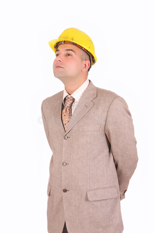 A Businessman Looking Up Stock Image