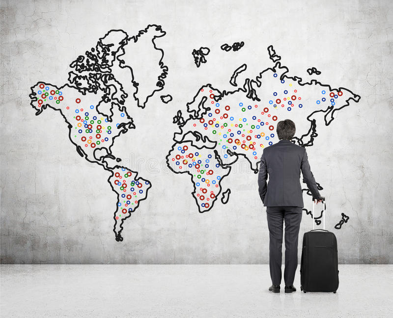 Businessman looking on world map stock image image of download businessman looking on world map stock image image of businessman graphic 50440911 gumiabroncs Images