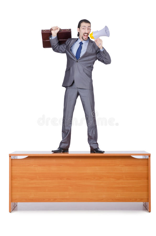 Download Businessman With Loudspeaker Stock Image - Image: 26272367