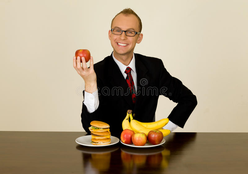 Businessman at lunch