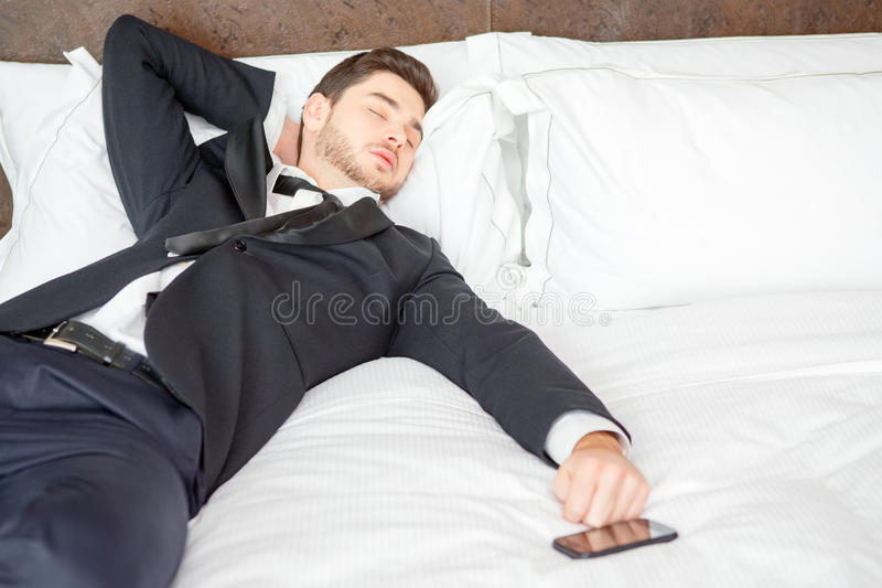 Businessman in the luxury hotel royalty free stock photo