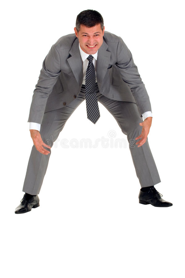 Download Businessman Makes An Effort Stock Photo - Image: 19524110