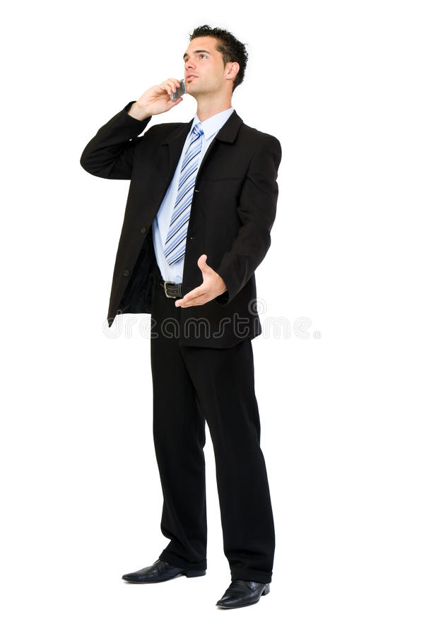 Download Businessman making a call stock image. Image of isolated - 10386229