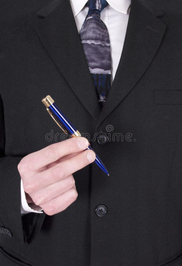 Businessman Making Deal, Signing Contract With Pen stock images