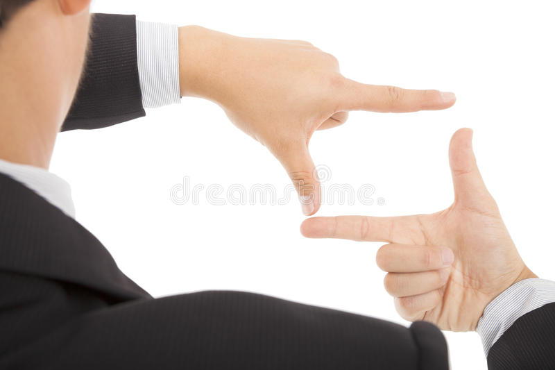 Download Businessman Making Frame With Hands Stock Image - Image: 29067829