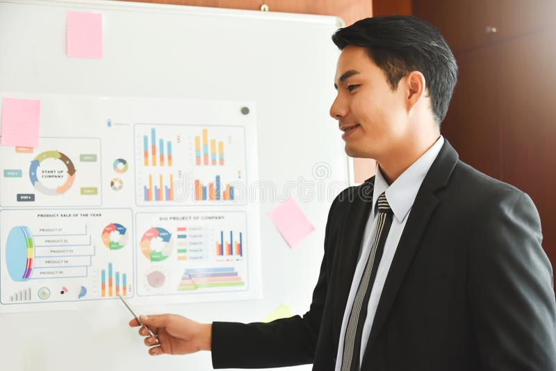 Businessman is making a new presentation. royalty free stock photo