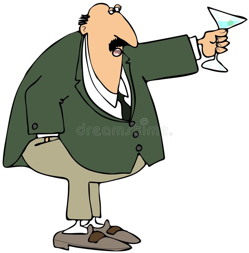 Download Businessman making a toast stock illustration. Image of male - 27711034