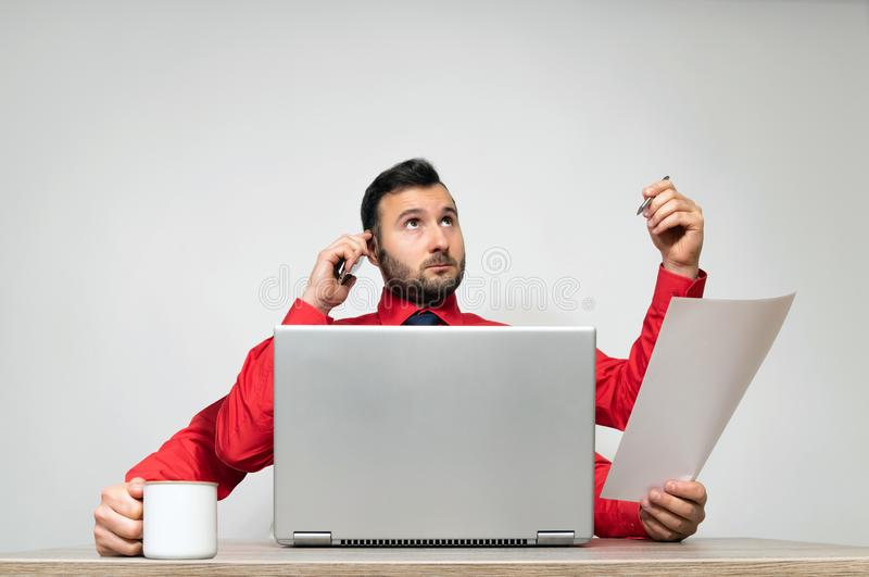 Concept of multitasking and productivity. stock image