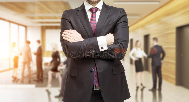 Businessman in marketing company office royalty free stock photo