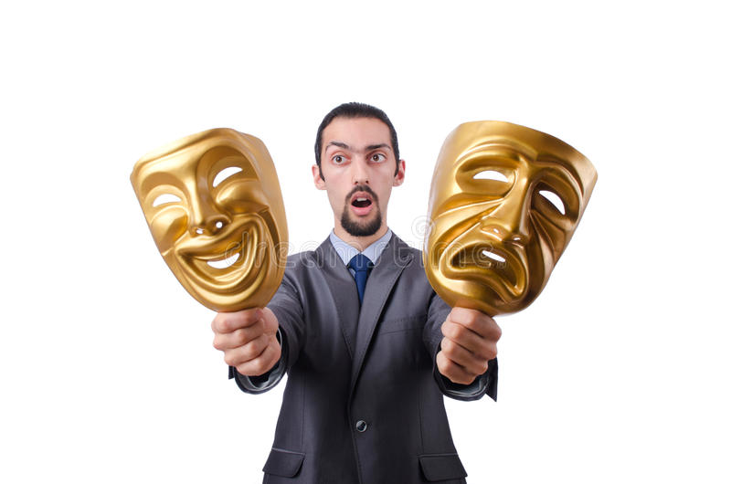 Download Businessman With Mask Concealing  Identity Royalty Free Stock Image - Image: 23111656
