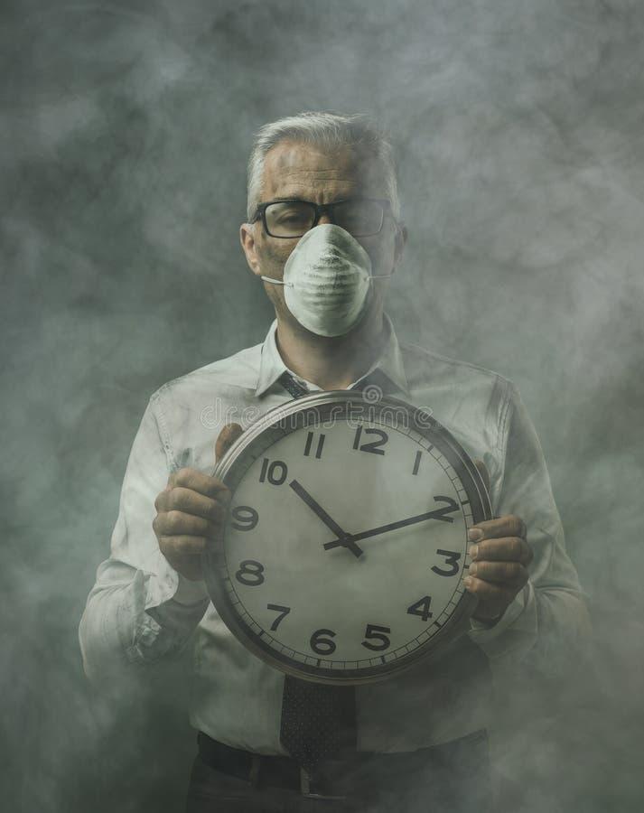 Alarming air pollution stock photography