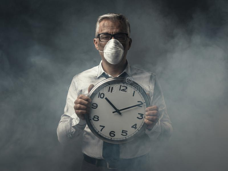 Alarming air pollution stock photography