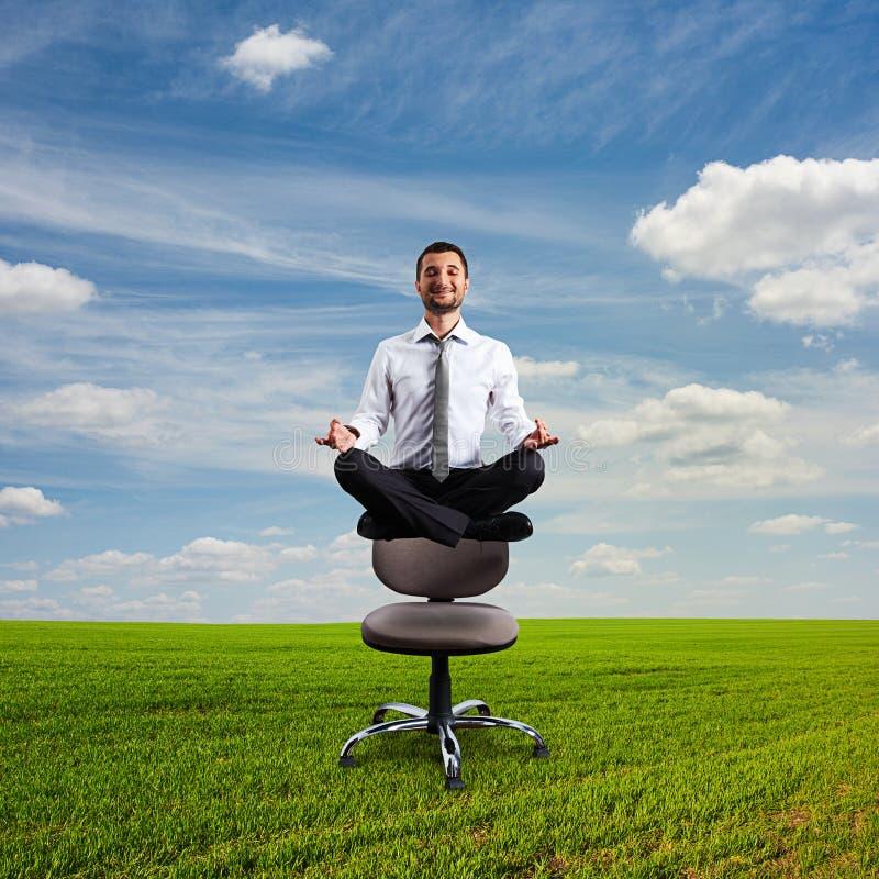 Businessman Is Meditating Stock Photo