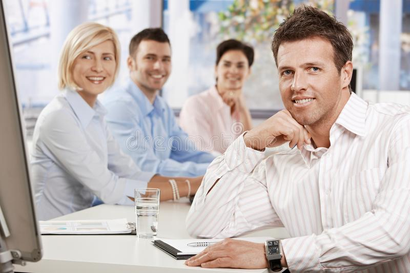 Download Businessman In Meeting Room Stock Image - Image: 24850429
