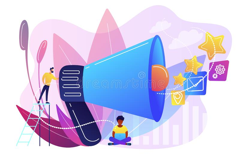 Promotion strategy concept vector illustration. vector illustration