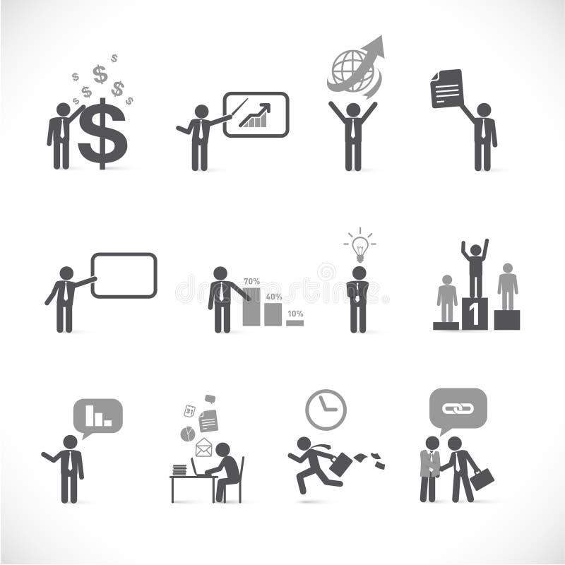 Businessman metaphors 2 royalty free illustration