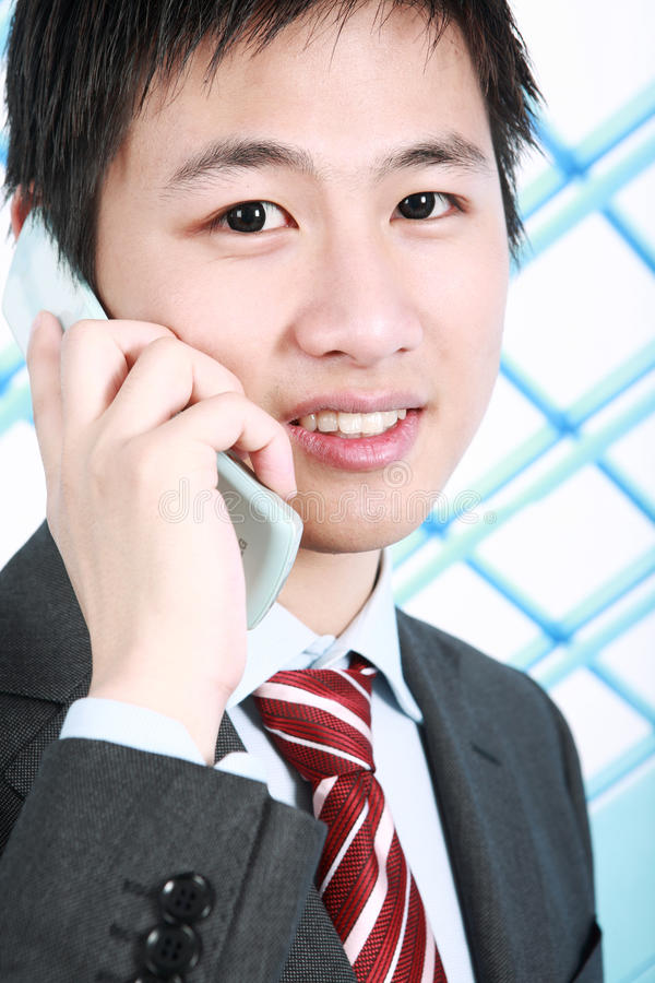 Download Businessman With Mobile Phone Stock Image - Image: 14059297