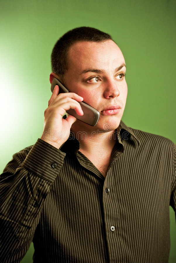 Businessman on mobile phone royalty free stock photos