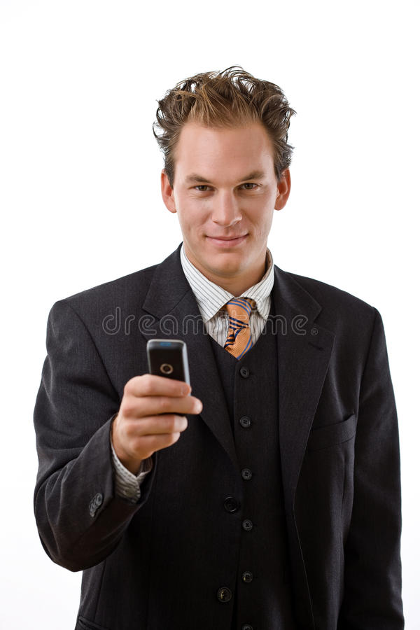 Download Businessman With Mobile Phone Royalty Free Stock Image - Image: 9524466