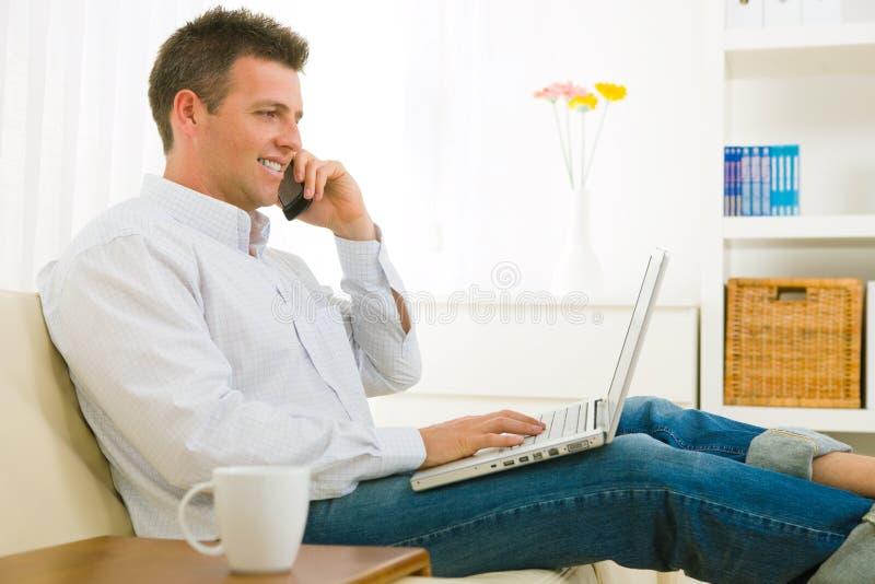 businessman mobile phone talking στοκ εικόνες