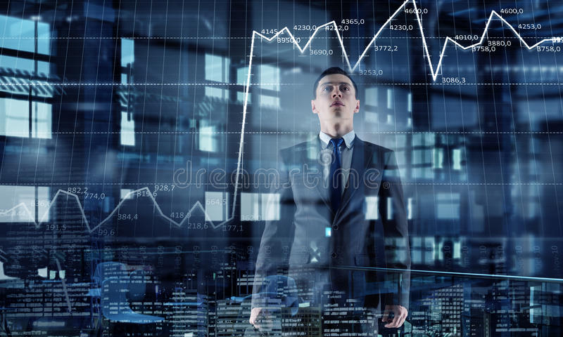 businessman modern office Μικτά μέσα στοκ εικόνες