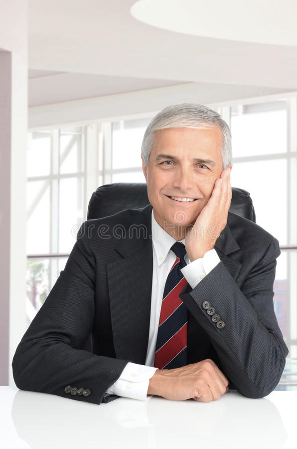 Businessman in Modern Office Setting stock images