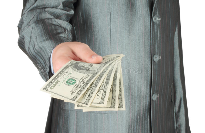 Download Businessman with money stock photo. Image of dollar, commercial - 33554992