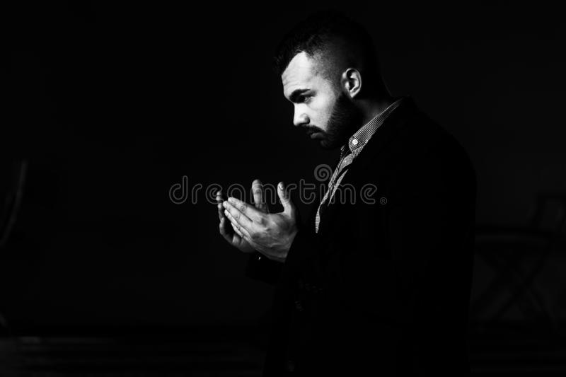 Portrait Of Young Muslim Man stock photo