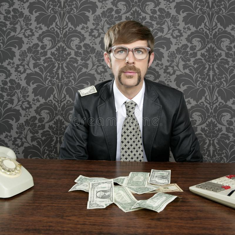 Download Businessman Nerd Accountant Dollar Notes Stock Image - Image: 17378921