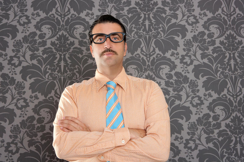 Businessman nerd portrait retro glasses wallpaper