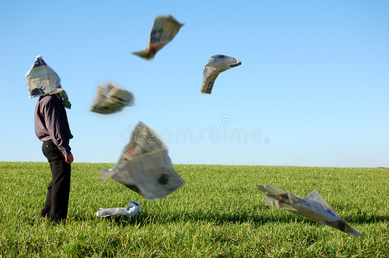 Download Businessman and newspaper stock photo. Image of field - 1962820