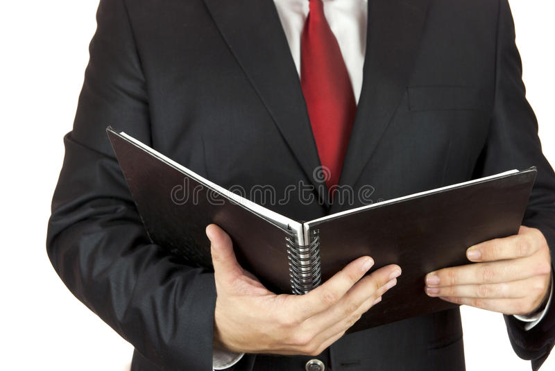 Download Businessman And Notebook Stock Photography - Image: 25525832