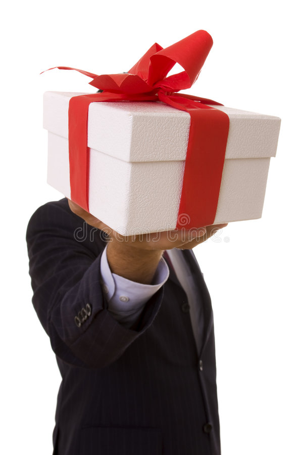 Businessman offer royalty free stock photos