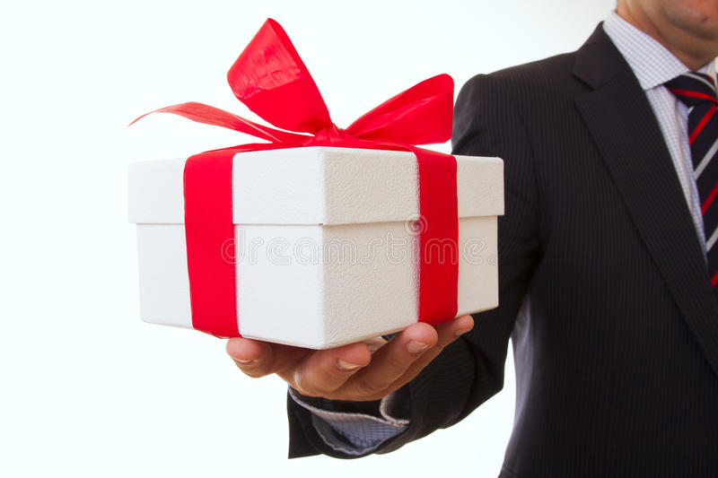 Businessman offer royalty free stock photography