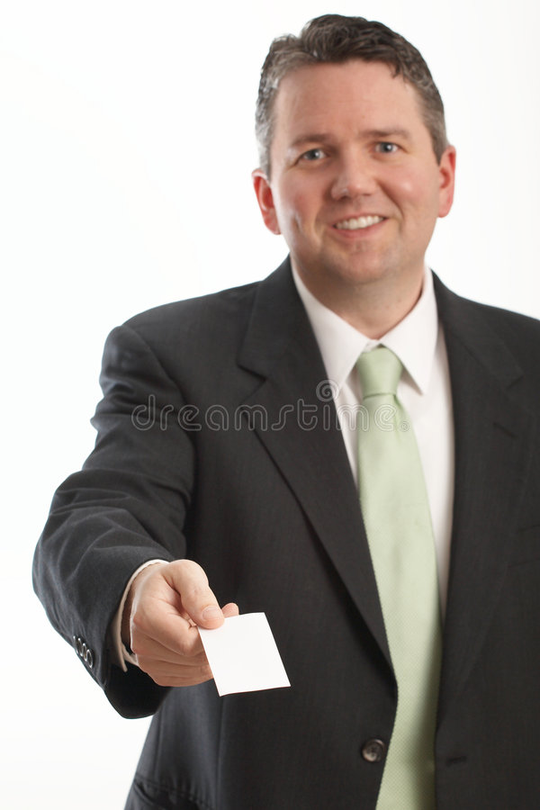 Businessman Offering Card royalty free stock image