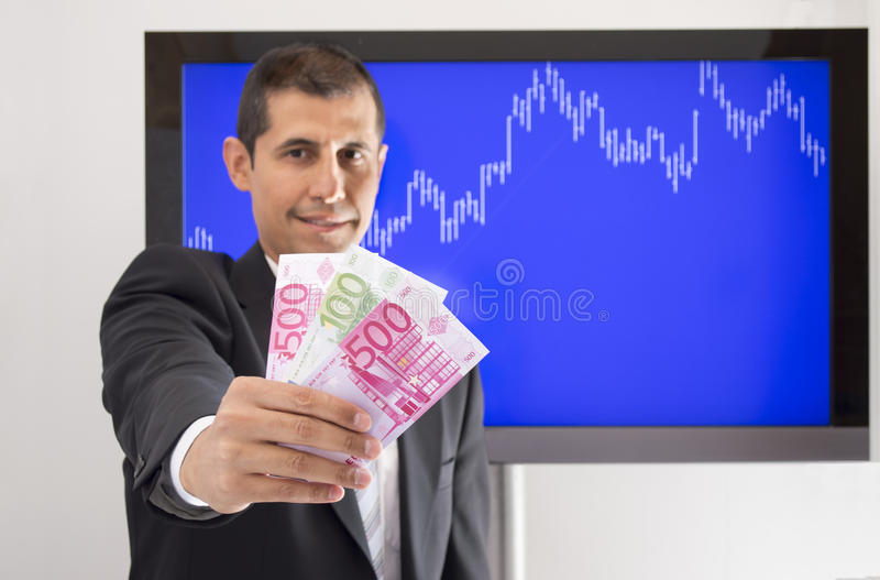 Download Businessman offering euro stock photo. Image of data - 34670624