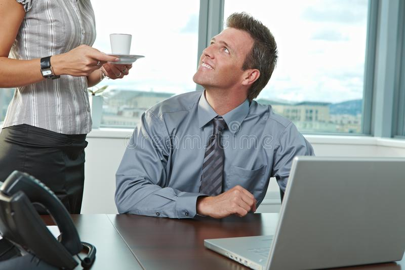 Businessman at office royalty free stock photos