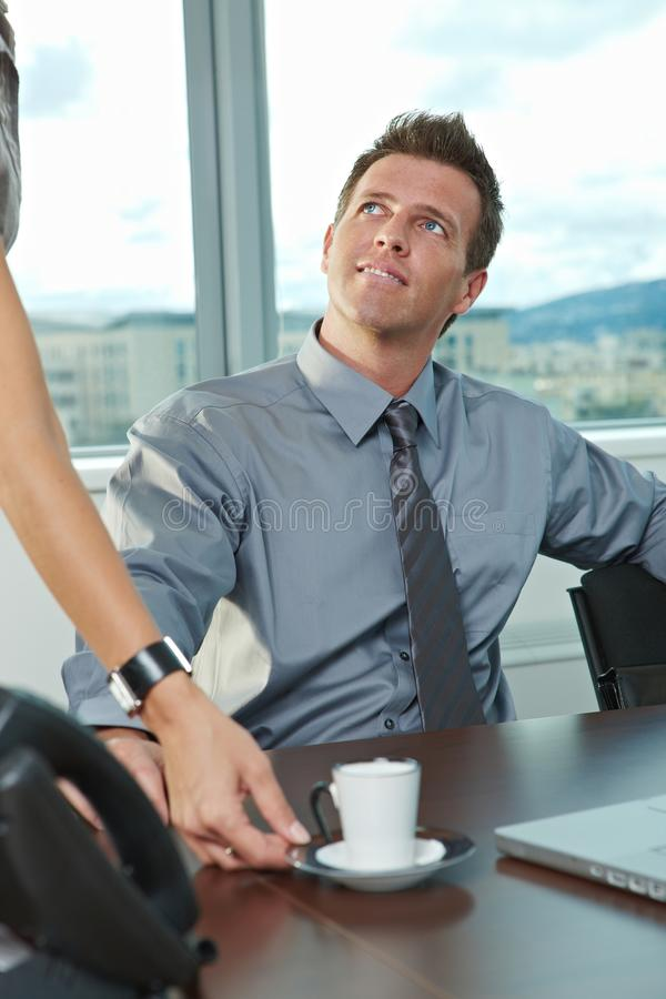 Businessman at office stock photo