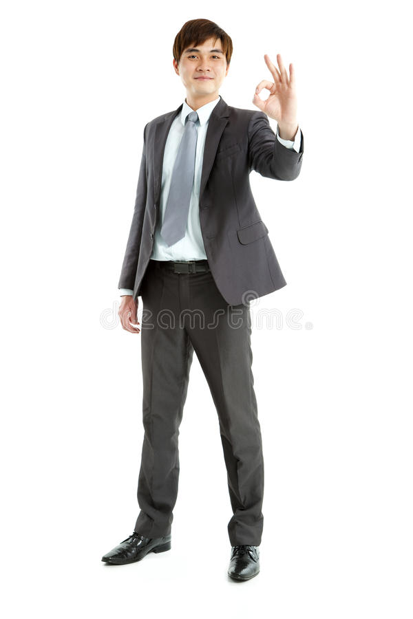 Download Businessman With Ok Gesture Stock Photo - Image: 25441008