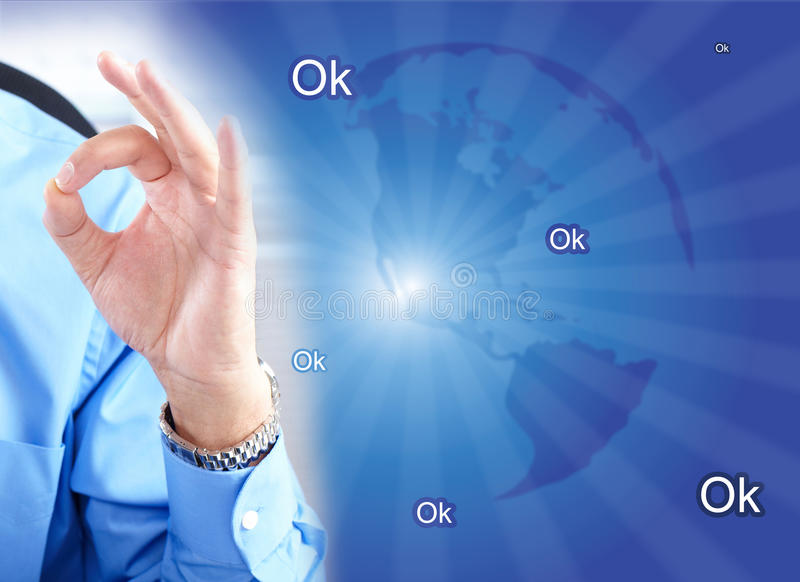 Businessman and ok royalty free stock images