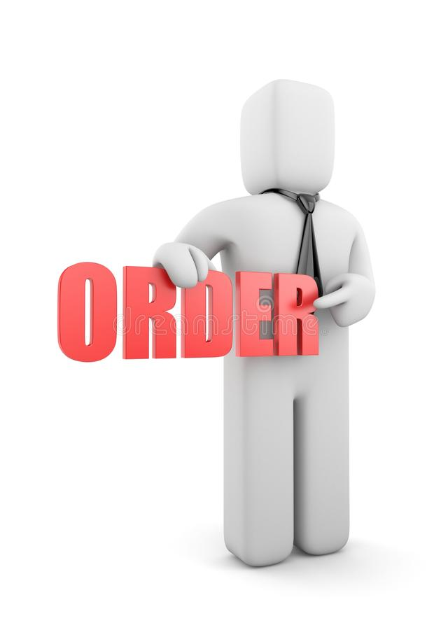 Businessman with order royalty free illustration